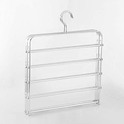 Xyijia Hanger Aluminum Alloy Trousers Rack Household Trousers Rack Multifunctional Metal Trousers Rack Multilayer Trousers Hanging Wardrobe Rack Magic Trousers Rack