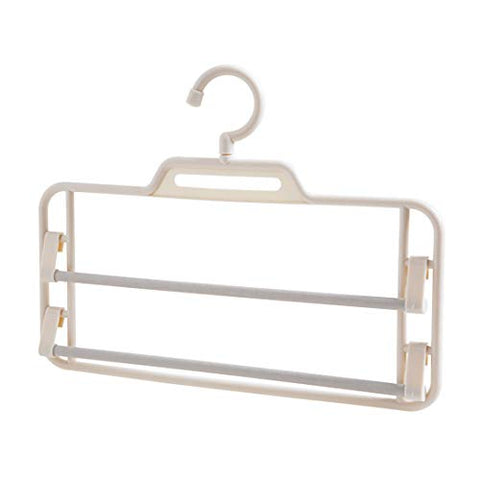 Kexinfan Hanger Multilayer Trousers Rack Closet Trousers Rack Home Multi-Functional Hanger Trousers Rack Rack Storage Rack Pants Hanging, Beige