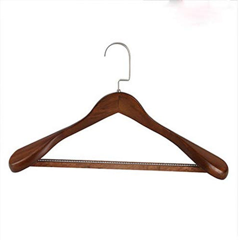 Xyijia Hanger 3Pcs/Lot 39Cm/41Cm Wide Shoulder-Free Solid Wood Hangers Anti-Slip Multifunctional Adult Hanger