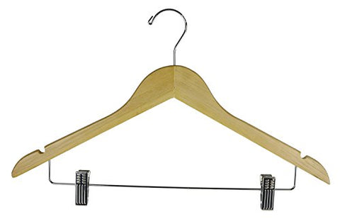 Shop72 - Cloth Hanger 17 inch For Suits , Pants, Skirt or Slack - Wood Set12