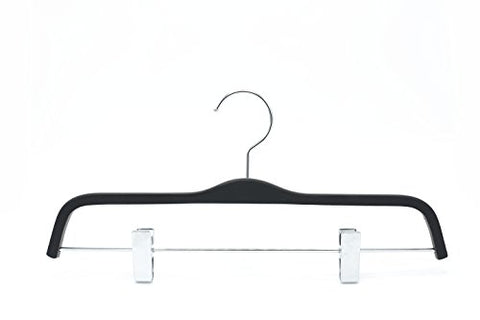 HIZHO Rubber Pant/Skirt Hangers - 360 Degree Swivel Chrome Hook - Extra Light and Super Sturdy Hangers - 10 Pack
