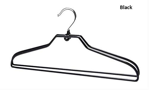 Xyijia Hanger 10 Pcs/Lot Space Saving PVC Coated Metal Clothes Hanger, Non Slip Thick Colorful Metal Coats Hanger