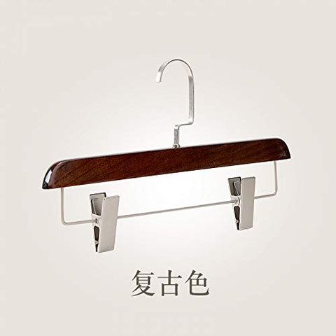 Xyijia Hanger Clothing Store Pants Grained Antiskid Underwear, Panty Hose Rack Trousers Clip Skirt Skirt and Wooden Clothes Hanger.