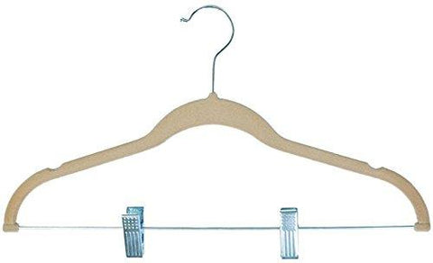 Ben&Jonah Collection Velvet Anti-Slip Skirt Hangers - Tan