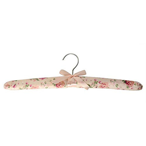 Xyijia Hanger 10 Pcs Pastoral Floral Print Cotton Padded Cloth Hanger