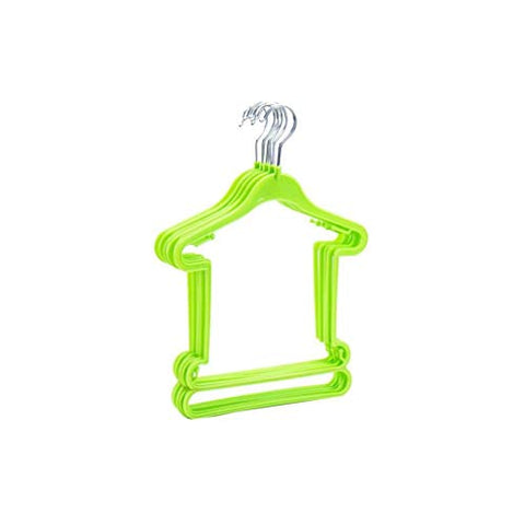 Xyijia Hanger 10Pcs Plastic Kids Clothes Hangers Children Clothes Laundry Hooks Wardrobe Clothing Drying Rack Holder Storage Organizer