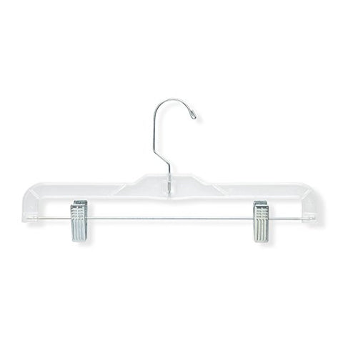 Honey-Can-Do HNGT01180 12 Pack Crystal Patterned Bottom Hangers, Clear