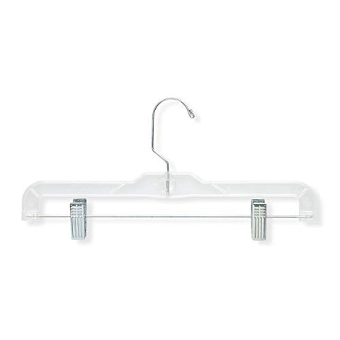 Honey-Can-Do HNG-02016 Skirt and Pant Hangers, Clear, 48-Pack