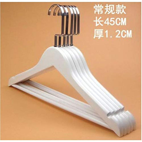 Xyijia Hanger 10Pcs/Lot 40/45Cm White Solid Wood Clothes Rack for Men's and Women's Pants Hanger Rack