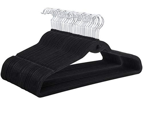 X-Treat Premium Clothes Hangers Heavy Duty Non-Slip Flocked Velvet Hangers Clothes Hangers Suit Shirt Pants100 Pieces