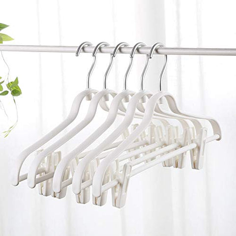 Xyijia Hanger Clothes Rack, Seamless Plastic Coat Clothes Hook Multifunctional Skid Trousers Rack Clothes Rack Clothes Rack