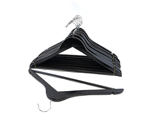FLORIDA BRANDS Suit Hangers, Black Wood, Set of 96