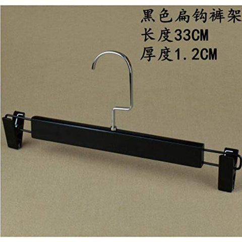Xyijia Hanger 10Pcs/Lot 40Cm/44.5Cm Black Solid Wood Vintage Clothes Rack, Clothing Store Anti-Skid Wooden Hanger. Trousers Clips