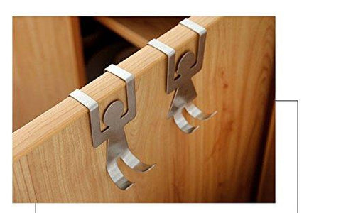 Stainless Steel Home Kitchen Wall Door Holder Hook Hangers Door HooK Nail Free Door Hook Rack Home Storage shelves Kangsanli