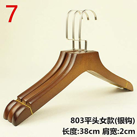 Xyijia Hanger (10Pcs/ Lot Wooden Hangers Clothing Shop Women's Children's Clothing Store Hangers Children's Anti-Skid Clothes Hanging Wooden Clothes Pants