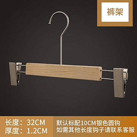 Xyijia Hanger (10Pcs/ Lot Wooden Hangers Clothing Shop Logs Without Paint, Non-Slip Wood Clothing, Pants, Hanging Women's Clothes Hanging