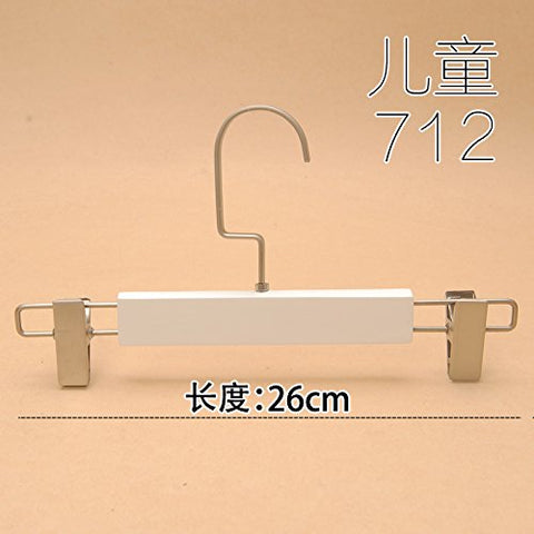 Kexinfan Hanger White Children Hangers Baby Wooden Wood Solid Wood Hangers Trousers Trouser Clips Children Children'S Clothing Store Clothes Hung, 1, 712 Children'S White Trousers Rack