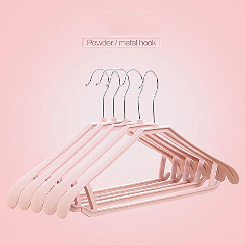 fdgfh yijia 10pce Plastic coat hangers with broad ends for coats, jackets, suits, trousers & skirts, 1