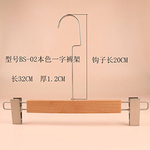 Kexinfan Hanger Logs Natural Wood Hanger Clothing Men Sex Wood Suit Hang Pants High-Grade Natural Wood Hangers,1,Bs-02 Character Pants