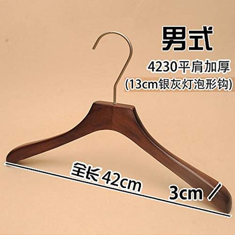 Xyijia Hanger (10Pcs/ Lot Wooden Hangers Clothing Store Retro Men and Women Children's Clothing 13Cm Long Hook Wood Hanger Pants Rack