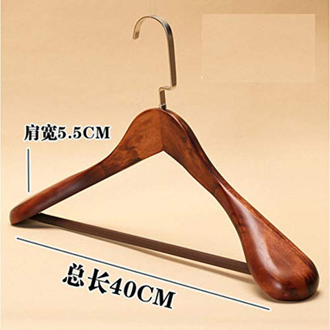 Xyijia Hanger 3Pcs/Lot 40/44Cm Man Woman Wide Shoulder Hanger Vintage Wood Coat Hangers Household Clothing Store Solid Wood Suit Hanger