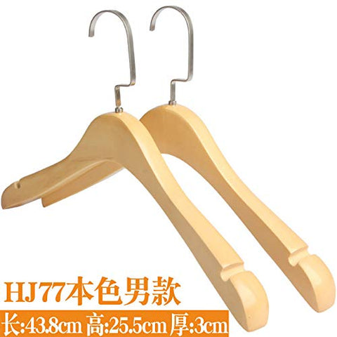 Xyijia Hanger Solid Wood Hangers Clothing Shops, Men's Wooden Clothes Trousers, Wooden Clothes and Braces.