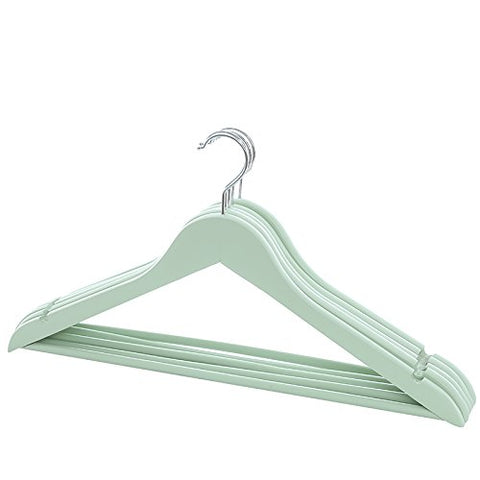 U-emember Cool Color Wooden Racks Wood Coat Holding A Home Shirt Hanging Clothes-Hangers Clothing Hanger Non-Slip Hanger 5, Green