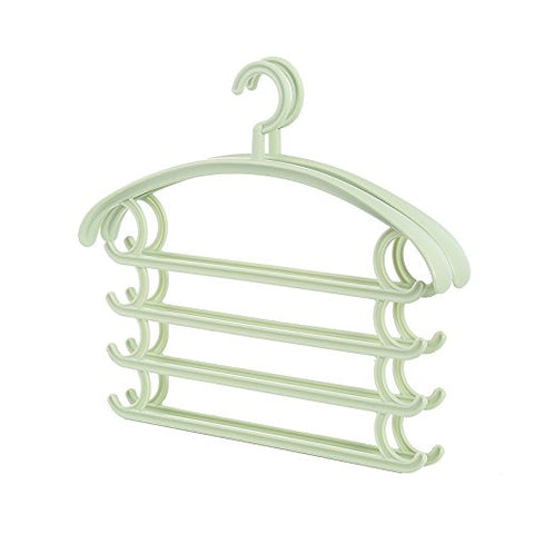U-emember Multifunction Trouser Press Home Wardrobe Hanging Pants Hangers Scarf Admit Hanger Plastic Finishing Hanging Pants Rack, 4, Springdale Green