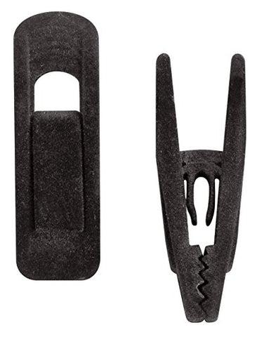 SSWBasics Black Velvet Hanger Clips - 100 Pack