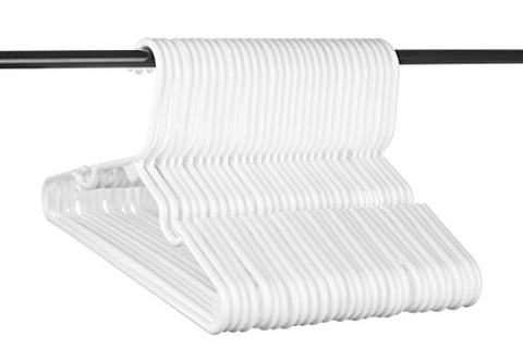 Neaties Children's Size White Plastic Hangers, USA Made Long Lasting Tubular Hangers, Set of 30