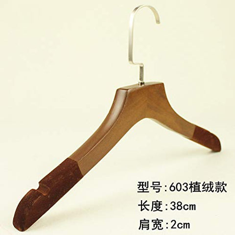 Xyijia Hanger (10Pcs/ Lot Wooden Hangers Clothing Shop Home Hotel Clothes Hanging Men and Women Wood Wooden Non-Slip Clothing Support