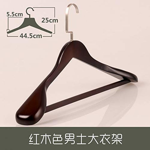 Xyijia Hanger Suit Hanger Solid Wood Wide Shoulder Clothes Support Antique Wooden Clothes Hanger Anti-Slip Hanger Man and Woman Coat Solid Wood Clothes Hanger