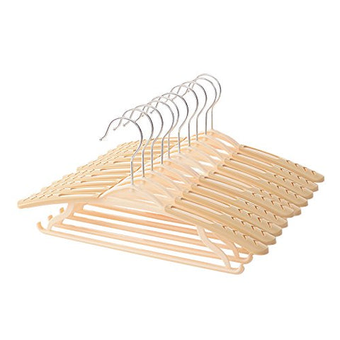 U-emember President Hanger Retractable Shoulder No Scratches Thick Into The Civil Air Defense Slip Hanger Plastic Hangers Wardrobe Clothes Rack Coat Hanger, 10, Brown