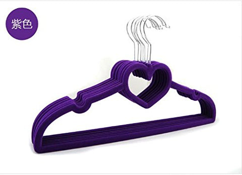 U-emember Girls Love Wire Hangers Wet & Dry Coat Hanger Slip Resistant Wind Resistant Non-Marking Iraq And Clothes Hangers, 20, Purple