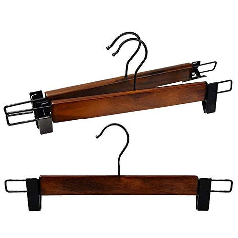 Kexinfan Hanger C Pants Folder Pants Rack Wood Clothes Hanging Wooden Drying Rack No Trace Clothes Hold Pants Clip Clothing Store, 10, C33Cm Black Hook Pants Folder