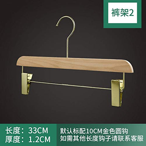 Xyijia Hanger (10Pcs/ Lot Wood Hanger No Paint Wood Clothing Store Hanger Wood Color Women's Anti-Skid Clothes Hanging Green Household Wooden Clothes Support