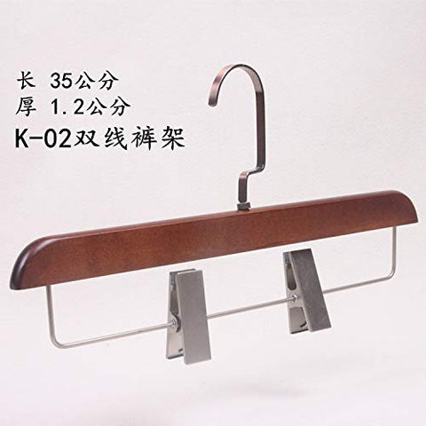Xyijia Hanger (10Pcs/ Lot Wooden Hanger High-Grade Retro with Bronze Hook Clothing Store Home Adult Hanger