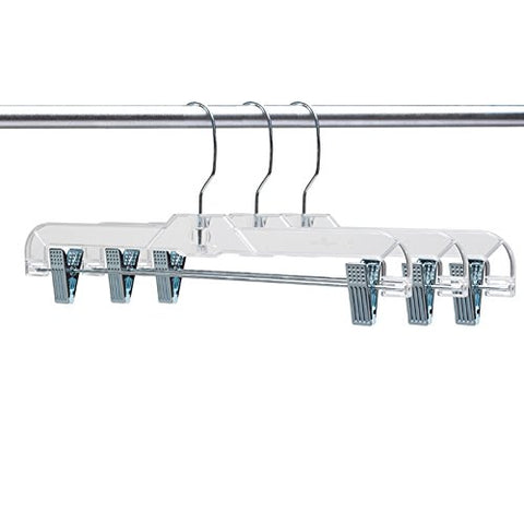 "Only Hangers 50 Pcs Clear 14"" Skirt Hanger (50pcs)"