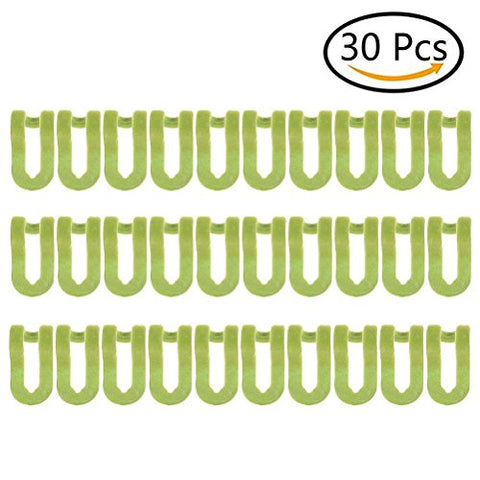 Lwestine 30 Pcs Anti-Slip Stable Hanger Connector Cascading Clothes Rack Hook Huggable Style Hangers Green Saving Space for Closet