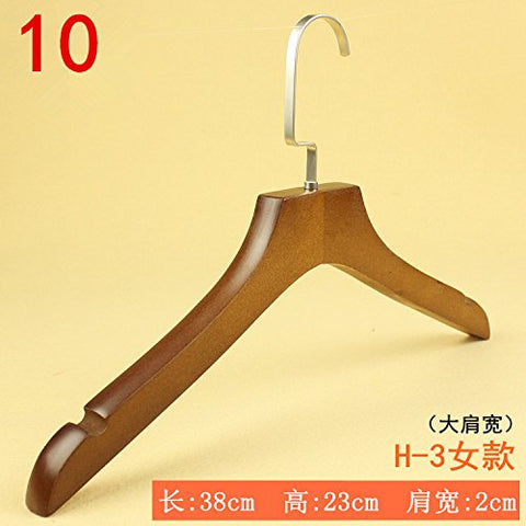 Kexinfan Hanger Clothing Store Solid Wood Hanger Men'S And Women'S Clothing Children'S Clothing Clothes Rack Home Clothes Hanging Clothing Support Non-Slip Wooden Hangers, 5, 10.H-3 Female Models