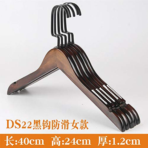 Xyijia Hanger Retro Wooden Clothes Hangers Pants Wooden Children's Wear Anti Slip Men's Clothing Clothes Rack Clothes Hanger
