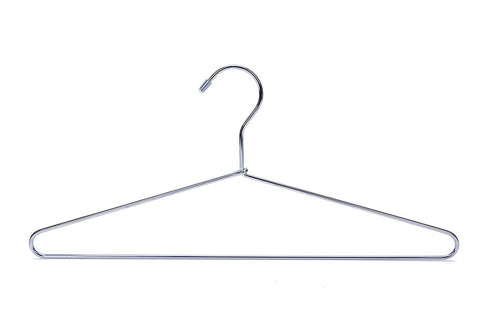 J.S. Hanger Heavy Duty Metal Hanger Suit Coat Hangers with Polished Chrome, Set of 24