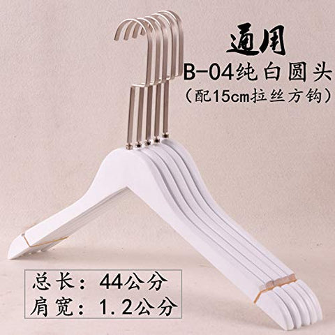 Xyijia Hanger (10Pcs/ Lot Wooden Hanger Ladies Clothing Store Pure White Wood Clothing Pants Rack