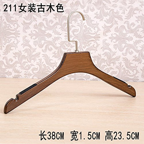 Kexinfan Hanger Adults Wooden Hangers Scarless Sex Children Imitated Wood Suit Hanging Clothing Cropper Clamps,1,211 Women'S Coat Hanger