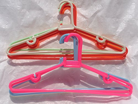 shahji creation 12 Pcs Dhamaka Hangers,Pant,Shirt,Dress,Skirt,Top,Trouser Garments (Multi Color)