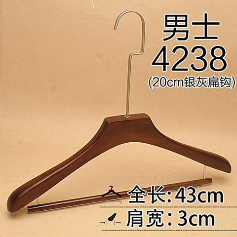 Xyijia Hanger (10Pcs/ Lot Wooden Hangers Clothing Shop Retro Wooden Men and Women Adult 20Cm Long Hook Non-Slip Hanger Clothing Support Pants Rack