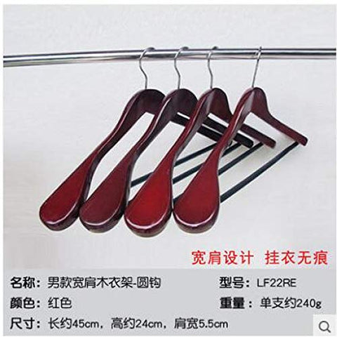 Xyijia Hanger 2Pcs/Lot Wooden Hangers for Clothes Rack Wood Coat Suit Hanger 45Cm