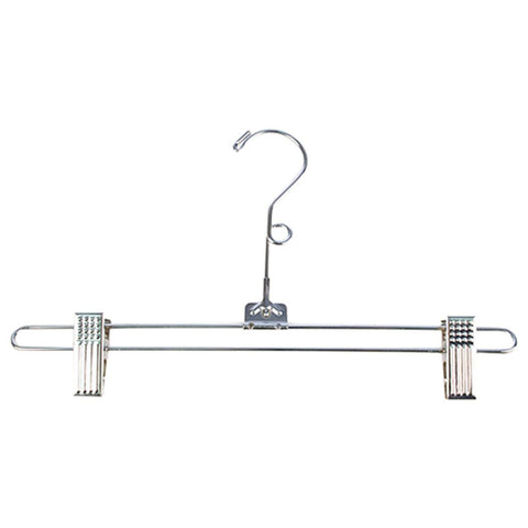 "KC Store Fixtures A19101 Salesman Skirt Hanger, 12"" with Loop, Chrome (Pack of 100)"