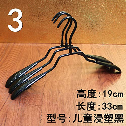 Kexinfan Hanger Hanging Pants Rack Hanging Adult Clothes Support Metal Anti-Slip Clothes Rack No Trace Stainless Steel Hook Household Dip Hanger, 20, 3. Children Dip Hanger Black