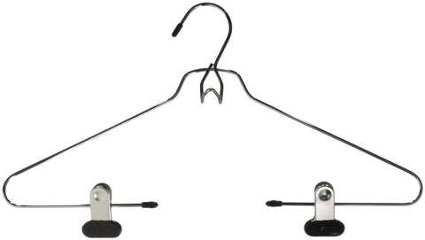Whitmor Add-On Skirt/Blouse Hanger Set of 2 Chrome / Black